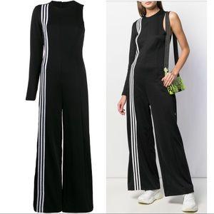 NWT Adidas TLRD Black One Sleeve Wide Leg Jumpsuit